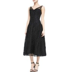 NWT Milly Black Olivia Illusion Dress